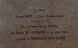 plaque Lucien Paté